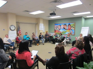 Springfield Housing Authority employees in training with the Alternatives to Violence Project.