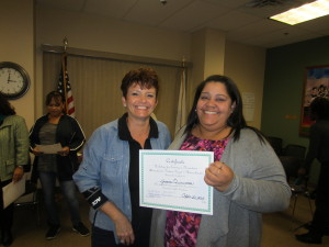 SHA Executive Deputy Director Michelle Booth and Commissioner Jessica Quiñonez at the end of the three-day training.