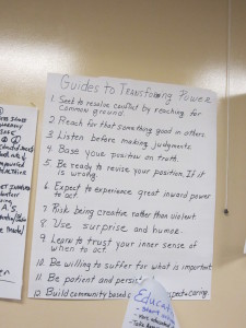 """Guides to Transforming Power,"" a part of the AVP training."